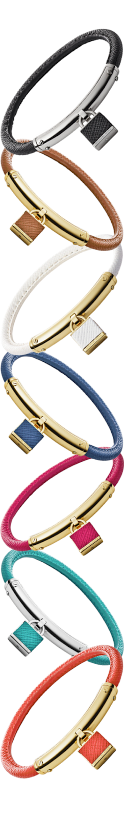 Michael Kors Leather Padlock Bracelet Assorted Colors