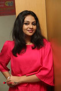 Actress Arundathi Nair Stills in Red Chididar at Bethaludu Success Meet  0026.JPG