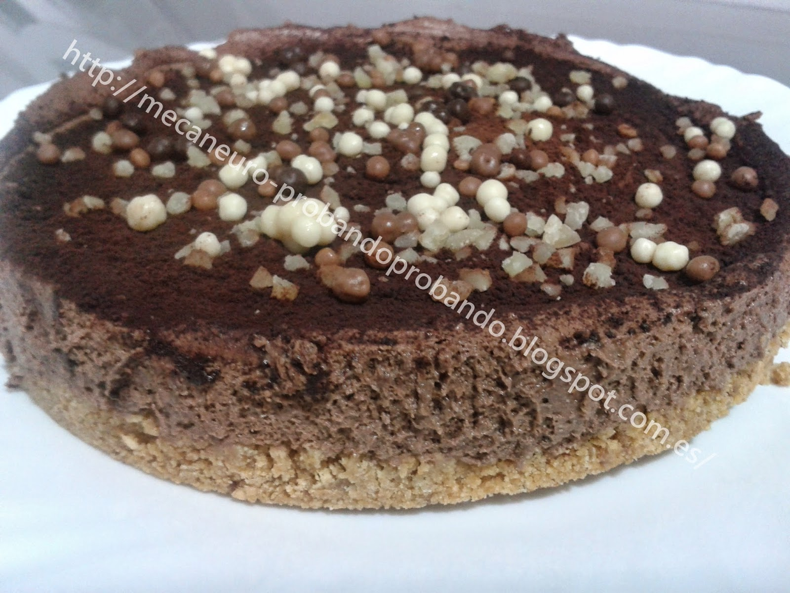 Pastel mousse chocolate Royal. Receta