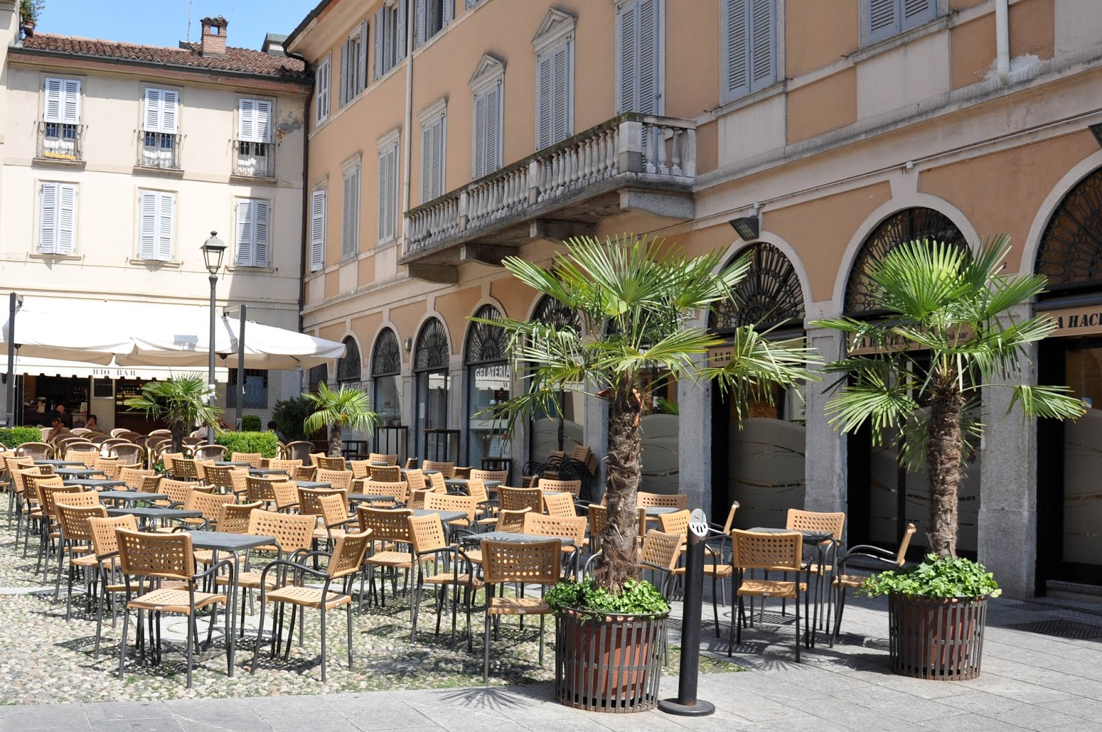 A deserted cafe, Cremona, Italy