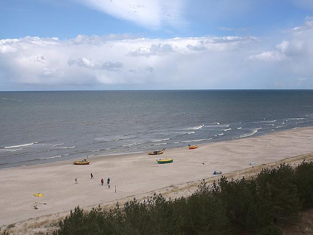 wybrzeże polskie, plaża, Dębki, widok z wieży widokowej