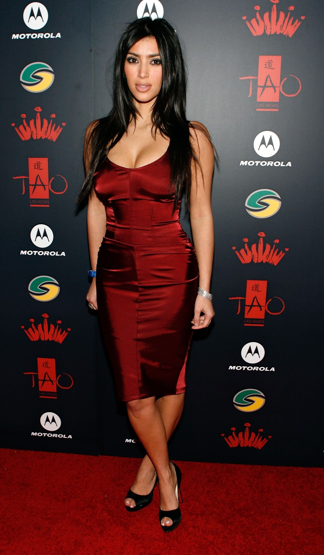 blue dress kim kardashian | Kim kardashian outfits