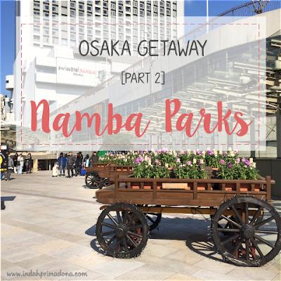 namba parks osaka, namba stasiun, roof garden, shopping center, restaurant, tempat makan