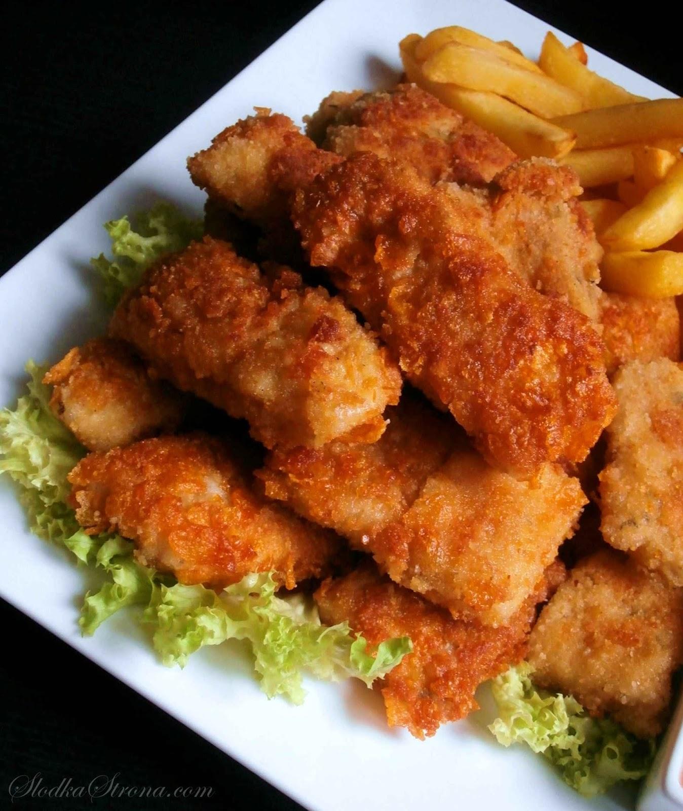 Słodka Strona: Nuggetsy Rybne W Płatkach Kukurydzianych
