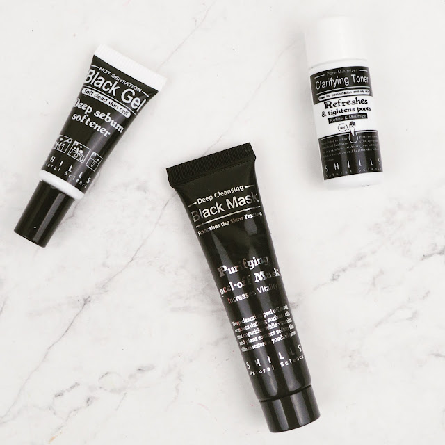 Lovelaughslipstick Blog - Shills Deep Cleansing Blackhead Removal Kit Review - Black Peel Off Charcoal Mask, Sebum Softener and Clarifying Toner from Shills