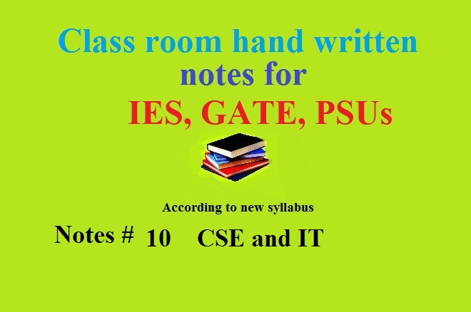ACE study notes of Computer Science (CSE) and Information