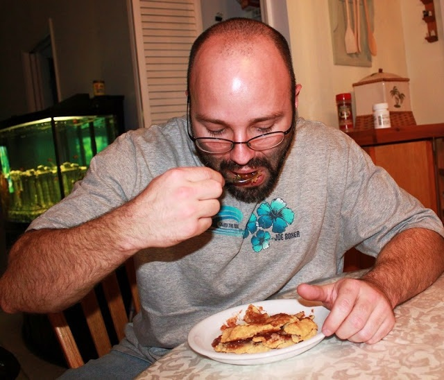 Apple Pie Upstate New York Recipe and my son eating the homemade apple pie from scratch, it was my mom's recipe