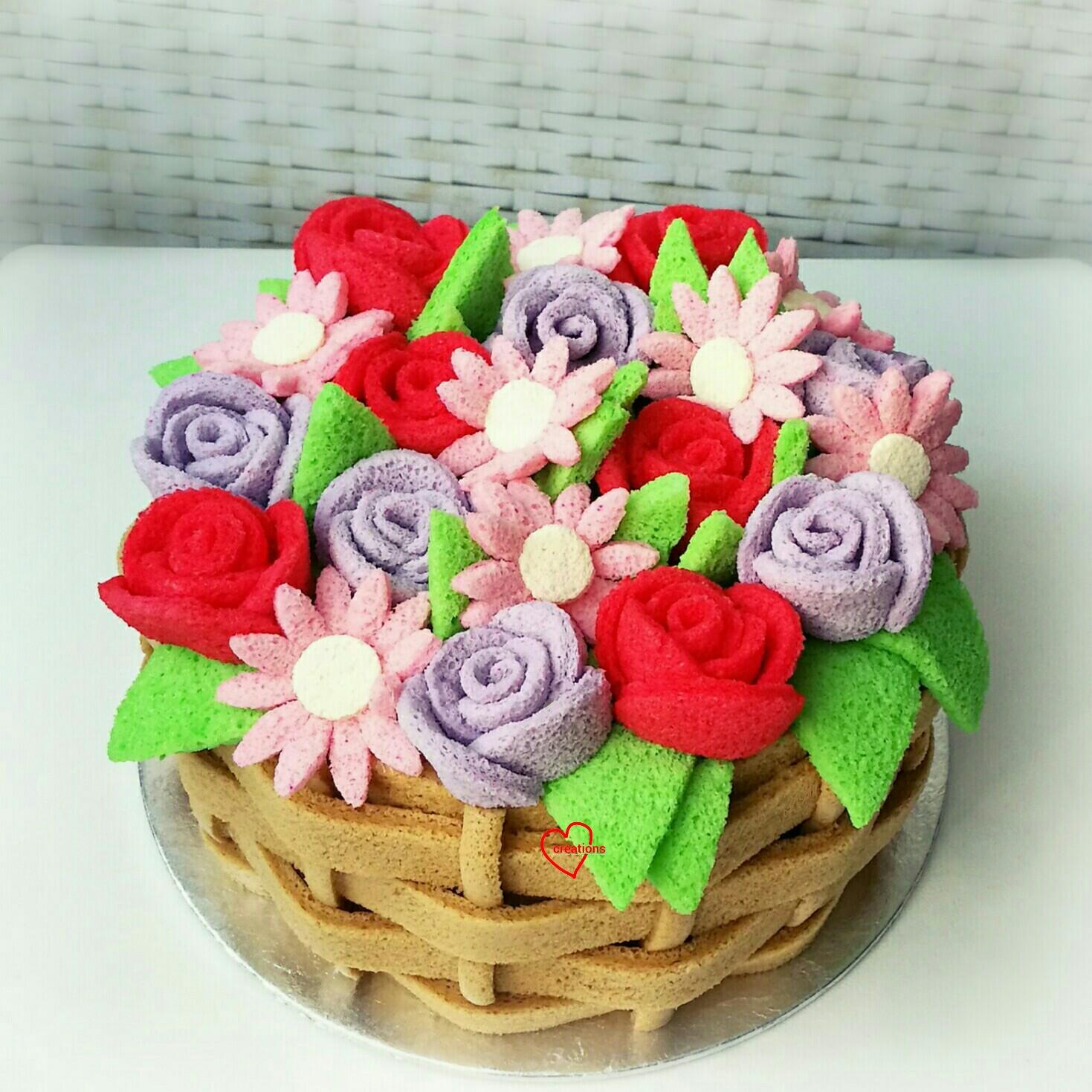 loving creations for you coconut gula melaka basket of flowers
