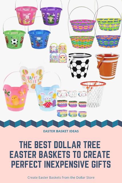 Easter Basket Ideas to Make using Dollar Store Baskets