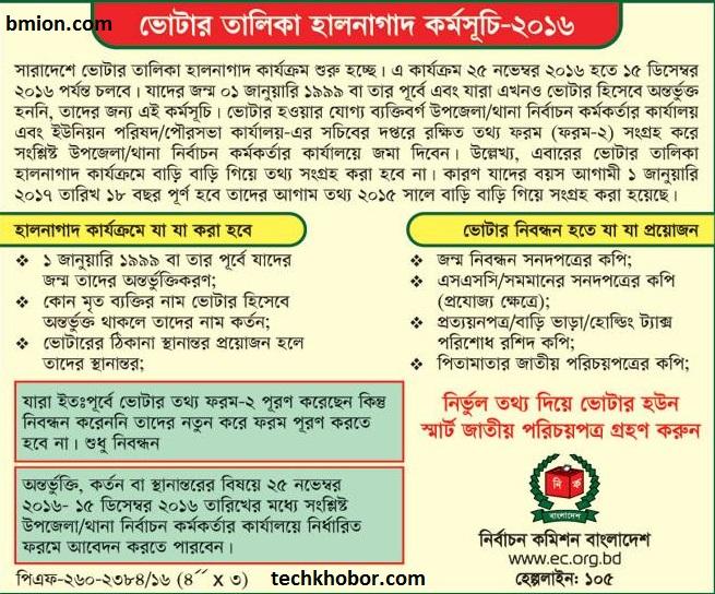 Bangladesh-New-Voter-Registration-25Nov-15Dec-2016-NID-National-ID-Voter-Card-Registration