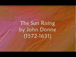 summary of the poem the sun rising by john donne