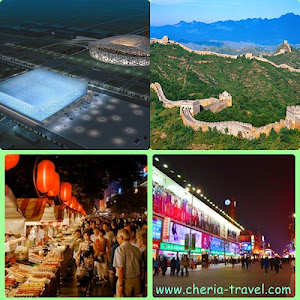 Olympic Stadiums – Bird Nest and Water Cube, Great Wall, Wang Fu Jing Shopping Street