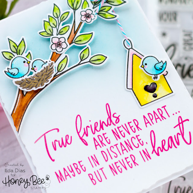 Spring Inspired Friendship Card for Honey Bee Stamps by ilovedoingallthingscrafty.com