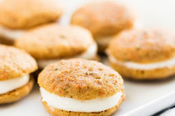 Mini carrot cake whoopie pies and bite-sized