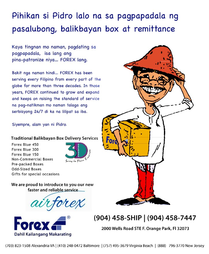 Forex shipping rates to philippines
