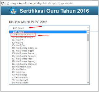 Kisi-Kisi Materi PLPG Tahun 2016