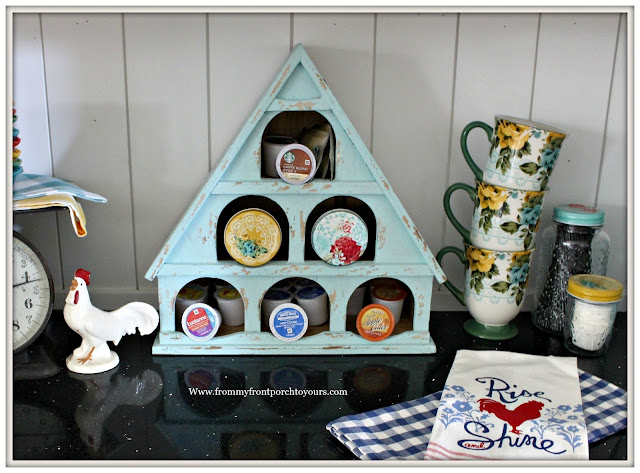 Farmhouse Coffee Bar-Coffee Pod Holder-Birdhouse-Keurig-From My Front Porch To Yours