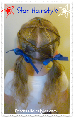 Braided Star Video Tutorial, Cute 4th Of July Hairstyle