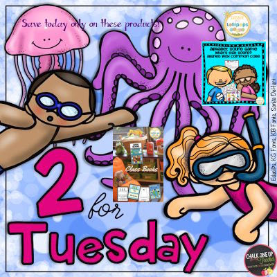 Are you looking for some great resources at great prices? Well...now is the time to stock up...Check out these great #2fortuesday Deals...just put #2fortuesday in the TpT search bar and viola...you can see all the products that are offered for 50% OFF...every Tuesday different resources are on sale!