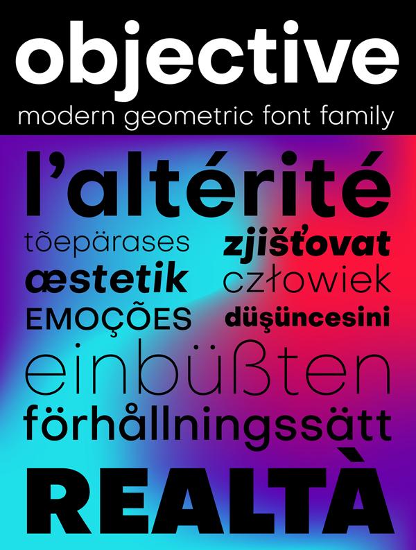 Download Font Terbaru 2018 - Objective Free Font