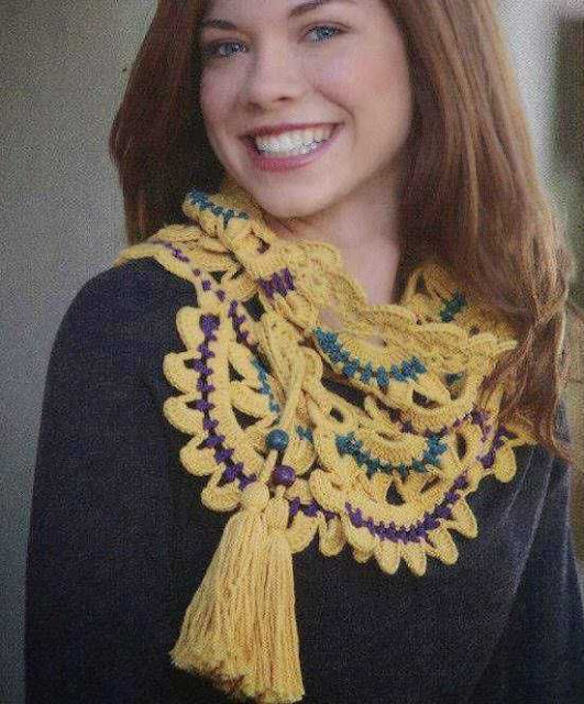 Patrón #1892: Como tejer única bufanda a crochet.