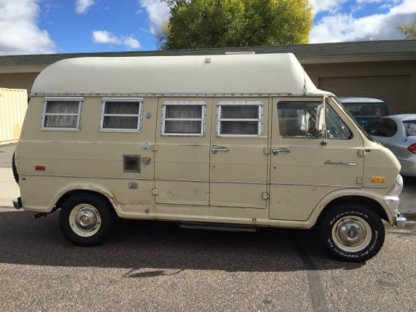 used rvs 1971 ford econoline camper van for sale by owner. Black Bedroom Furniture Sets. Home Design Ideas