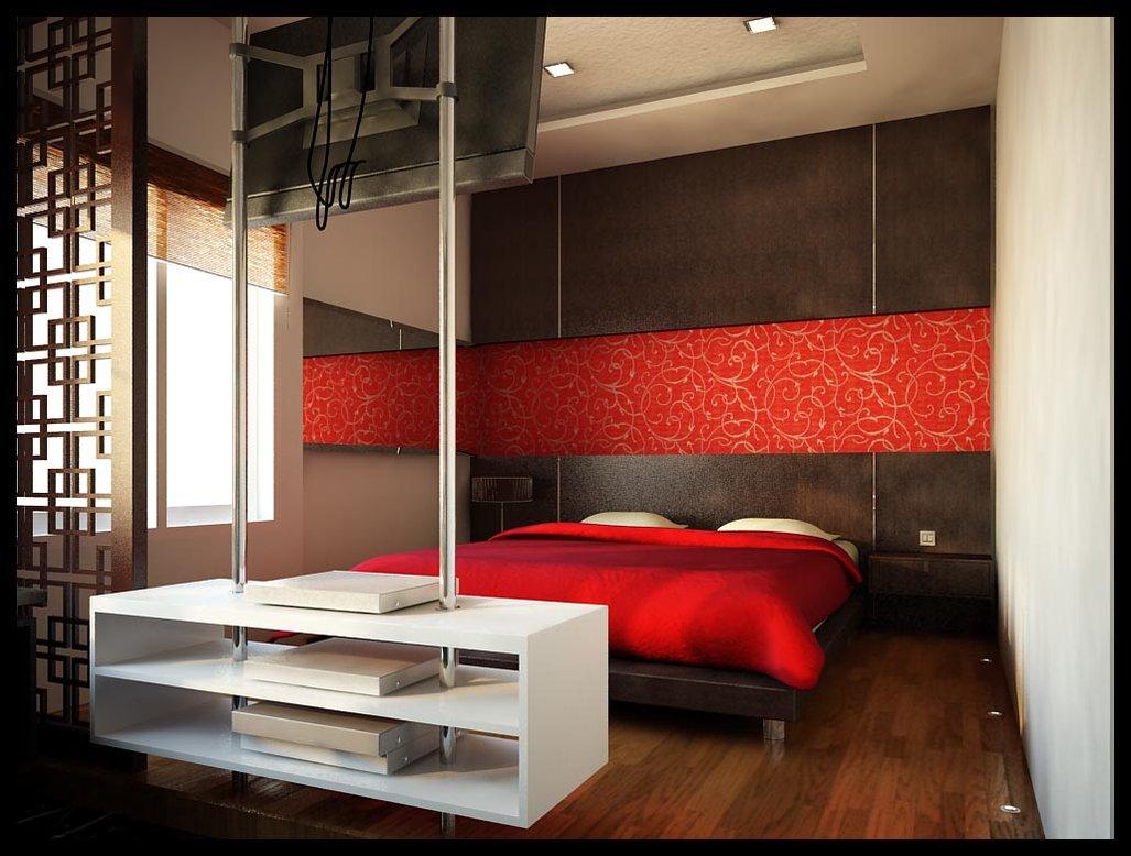 desain kamar tidur nuansa merah | kumpulan desain rumah