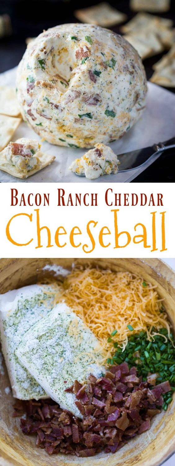 Bacon Ranch Cheddar Cheeseball Recipe