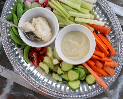 Roasted Eggplant Hummus ♥ AVeggieVenture.com, eggplant, chickpeas & Greek yogurt in an addictive, ultra smooth and creamy dip and spread. Low Carb. Weight Watchers friendly.