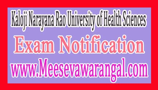 Kaloji Narayana Rao University of Health Sciences Notification