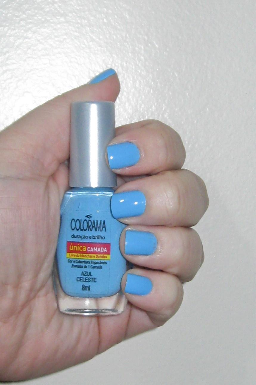 Luz Weber Esmalte Azul Celeste Da Colorama