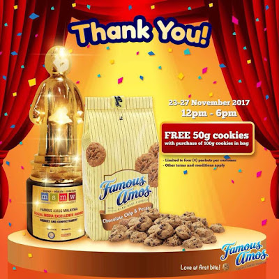 Free Famous Amos Malaysia Giveaway