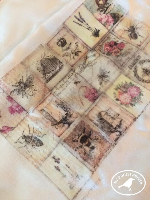 Bee Transfer Junk Journal Insert Tutorial from My Porch Prints