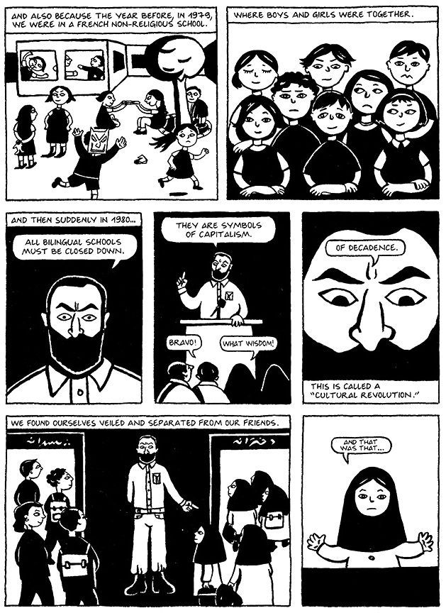 Read Chapter 1 - The Veil, page 2, from Marjane Satrapi's Persepolis 1 - The Story of a Childhood
