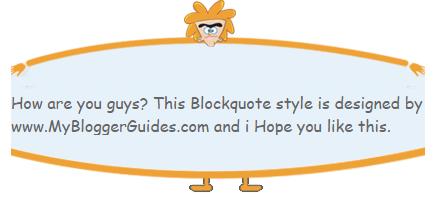 Blogger Blockquote Style 19