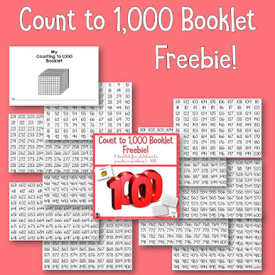 Count to 1,000 Freebie Booklet. Download this freebie and watch your students develop a deeper understanding of our number system up to 1,000, and have fun as well!