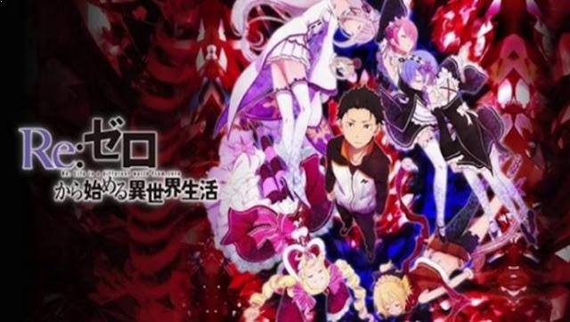 Re:Zero kara Hajimeru Isekai Seikatsu Daftar Anime Isekai Terbaik ( Tokoh Utama Masuk Dunia Lain )