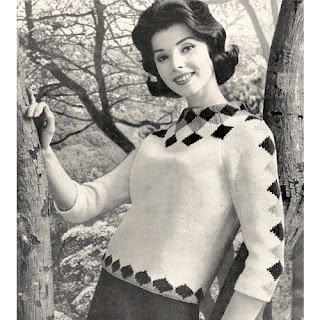Diamond Knit Sweater Pattern No 732-20