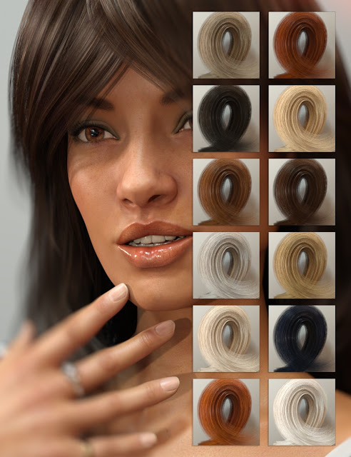 D4M Faith Hair Bundle for Genesis 3 Female