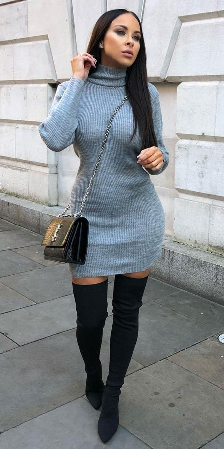 Looking for Stylish Jumper outfits? Find 30+ Inexpensive Winter Jumper Outfits including jumper dress, jumper knit outfits, jumper midi dress. Winter Outfits via  higiggle.com #jumper #cuteoutfits #fashion #style