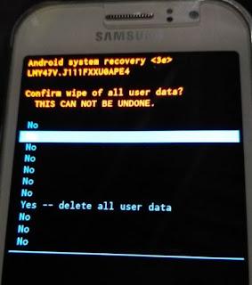 Cara Reset Ulang Samsung Galaxy J1 Ace