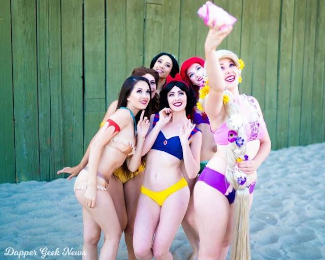 Así se verían las princesas Disney si cambiaran su vestido por un bikini