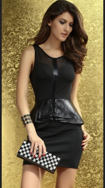 Mini dress model peplum untuk ke pesta bagi remaja
