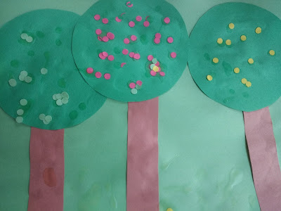 Completed Apple Tree Craft for Preschool