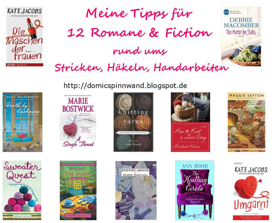 Domics Pinnwand: 12 Romane rund ums Stricken, die ich Dir empfehlen kann