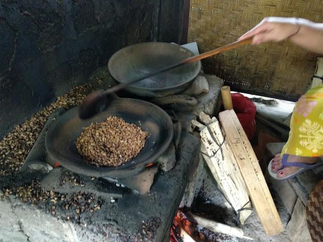 Luwak Coffee roasting