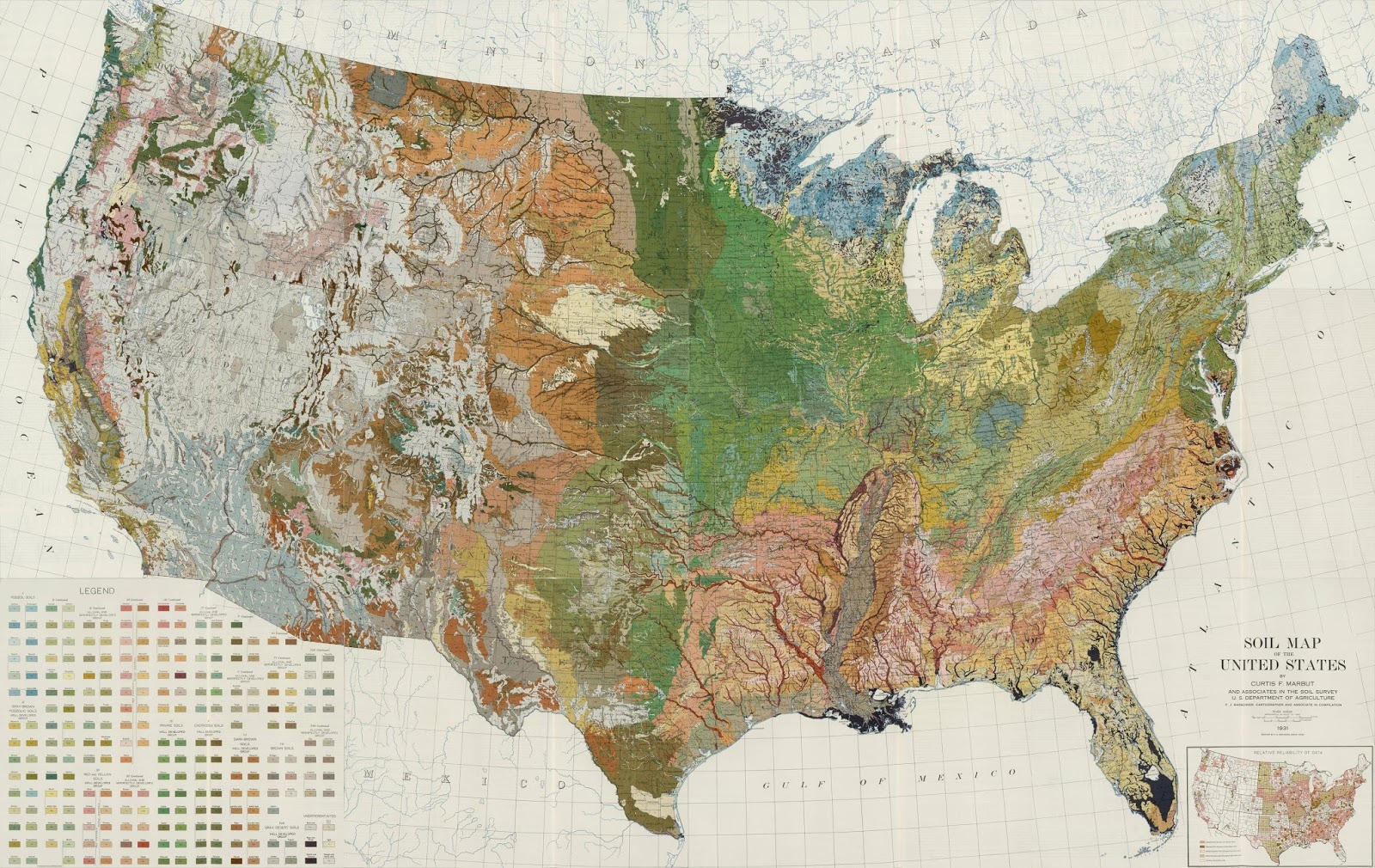Soil map of the US (1931)