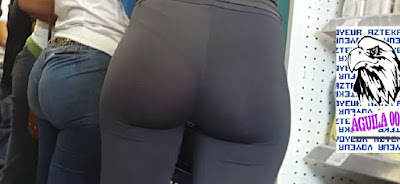Voyeur fotos nalgona  leggins transparentes