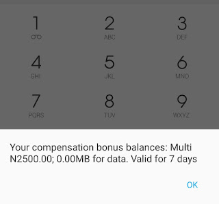 How to get the MTN Happy Compasation data bonus.