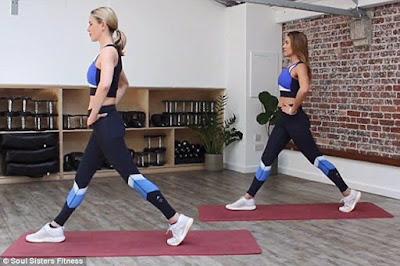Thực hiện động tác pulse lunge